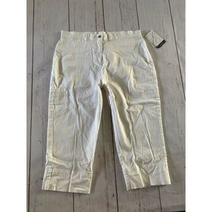 Emma James liz Claiborne white Capri jean denim